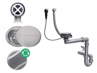 Siphon automatique pour évier avec un bac